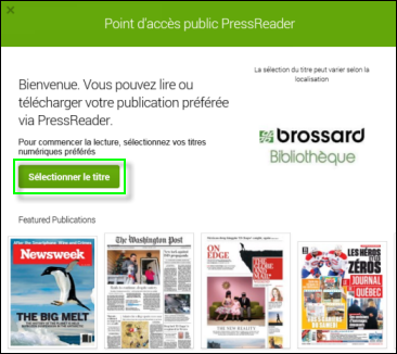 Guide PressReader 1