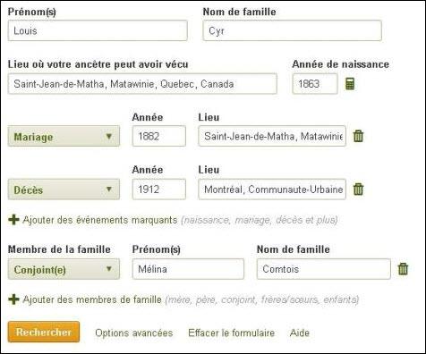 Aide Pour L Utilisation D Ancestry Bibliotheque De Brossard